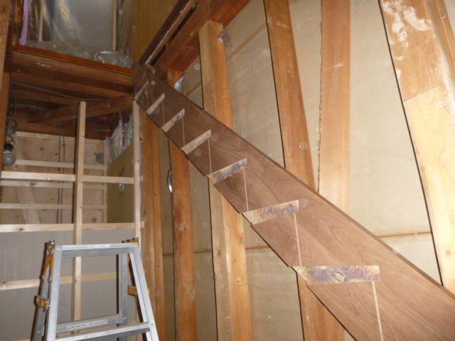 階段施工中